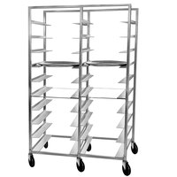 Channel OT-6D 20 Tray Double Aluminum Oval Tray Rack - Assembled