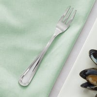 Acopa Edgeworth 5 3/8 inch 18/8 Stainless Steel Extra Heavy Weight Oyster / Appetizer / Cocktail Fork - 12/Case