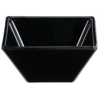 GET ML-257-BK Siciliano 3 oz. Black Melamine 3 inch Square Petite Bowl - 48/Case