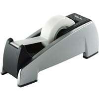 Fellowes 8032701 Office Suites 1 inch Core Black/Silver Weighted Plastic Desktop Tape Dispenser