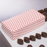 7 1/8 inch x 3 3/8 inch x 1 7/8 inch 1-Piece 1 lb. Valentine's Day Heart Candy Box   - 250/Case