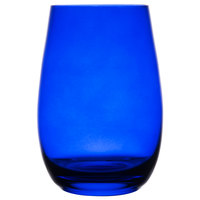 Stolzle S3527012E Elements 16.5 oz. China Blue Stemless Wine Glass / Tumbler - 6/Pack