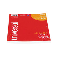 Universal UNV20923 8 1/2 inch x 11 inch White Pack of Wide Rule Lined Filler paper