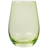 Stolzle S3527212E Elements 16.5 oz. Green Stemless Wine Glass / Tumbler - 24/Case