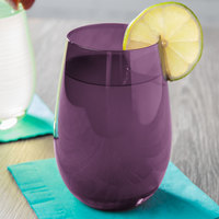 Stolzle S3528112E Elements 16.5 oz. Purple Stemless Wine Glass / Tumbler - 24/Case