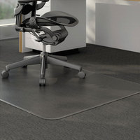 Universal ALEMAT4660CLPR 60 inch x 46 inch Clear Cleated Low Pile Carpet Office Chair Mat