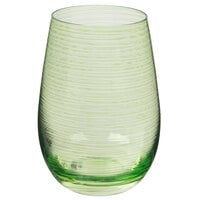 Stolzle S3527212T Twister 16.5 oz. Green Stemless Wine Glass / Tumbler - 24/Case