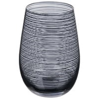 Stolzle S3527812T Twister 16.5 oz. Smoky Grey Stemless Wine Glass / Tumbler - 6/Pack