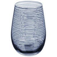 Stolzle S3527912T Twister 16.5 oz. Smoky Blue Stemless Wine Glass / Tumbler - 24/Case