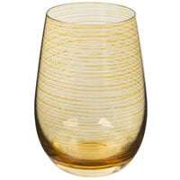 Stolzle S3527312T Twister 16.5 oz. Amber Stemless Wine Glass / Tumbler - 24/Case
