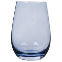 Stolzle S3527912E Elements 16.5 oz. Smoky Blue Stemless Wine Glass / Tumbler - 24/Case