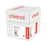 Universal UNV15807 9 1/2 inch x 11 inch White Case of 20# Perforated Continuous Print Computer Paper - 2300 Sheets