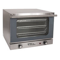 Global Solutions by Nemco GS1200 Quarter Size 3-Pan Countertop Convection Oven - 120V, 1300W