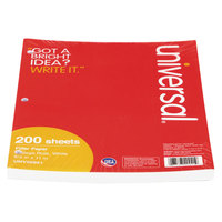 Universal UNV20921 8 1/2 inch x 11 inch White Pack of College Rule Lined Filler Paper