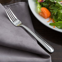 Reed & Barton RB128-038 Stitch 7 inch 18/10 Stainless Steel Extra Heavy Weight Salad Fork - 12/Case