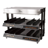 Global Solutions by Nemco GS1300-24-S 21 inch Slanted 2 Shelf Heated Merchandiser - 120V, 1500W