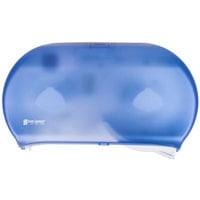 San Jamar R4000TBL Twin Classic 9 inch Double Roll Jumbo Toilet Tissue Dispenser - Arctic Blue