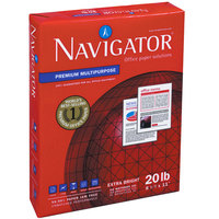 Navigator NMP1420 8 1/2 inch x 14 inch White Case of 20# Premium Multipurpose Paper - 5000 Sheets