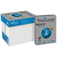 Navigator NPL1124 8 1/2 inch x 11 inch White Case of 24# Platinum Paper - 5000 Sheets