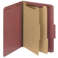 Smead 14024 100% Recycled Heavyweight Letter Size Classification Folder - 10/Box