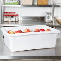 Choice 26 inch x 18 inch x 9 inch White Plastic Food Storage Box
