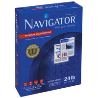 Navigator NMP1724 11 inch x 17 inch White Case of 24# Premium Multipurpose Paper - 2500 Sheets
