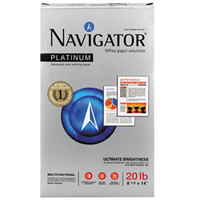 Navigator NPL1420 8 1/2 inch x 14 inch White Case of 20# Platinum Paper - 5000 Sheets