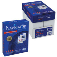 Navigator NMP1120 8 1/2 inch x 11 inch White Case of 24# Premium Multipurpose Paper - 5000 Sheets