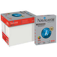 Navigator NPL11205R 8 1/2 inch x 11 inch White Case of 20# Platinum Paper - 2500 Sheets