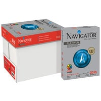 Navigator NPL1120 8 1/2 inch x 11 inch White Case of 20# Platinum Paper - 5000 Sheets