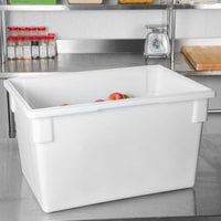 Choice 26 inch x 18 inch x 15 inch White Plastic Food Storage Box