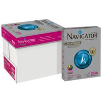Navigator NPL1128 8 1/2 inch x 11 inch White Ream of 28# Platinum Paper - 500 Sheets