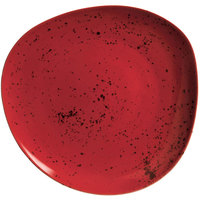 Schonwald 9381215-63046 Pottery 6 1/8 inch Unique Red Organic Porcelain Plate   - 12/Case
