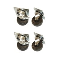 True 872069 4 inch Replacement Swivel Plate Casters - 4/Set