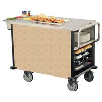 Lakeside 6754SST SuzyQ Sand Stone Dining Room Meal Serving System with One Heated Well - 120V