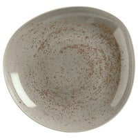 Schonwald 9381328-63043 Pottery 27 oz. Unique Light Gray Organic Porcelain Bowl - 6/Case