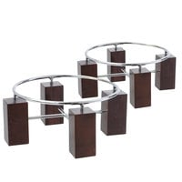 Clipper Mill by GET WRS-803SET2 Circlo Brown Wood / Chrome Plated Iron Riser Set