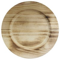 The Jay Companies 1330476 13 inch Round Natural Fired Paulownia Wood Charger Plate