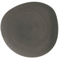 Schonwald 9381231-63044 Pottery 12 3/8 inch Unique Dark Gray Organic Porcelain Plate - 6/Case