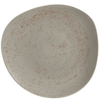 Schonwald 9381231-63043 Pottery 12 3/8 inch Unique Light Gray Organic Porcelain Plate - 6/Case