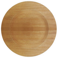 The Jay Companies 1330477 13 inch Round Brown Paulownia Wood Charger Plate