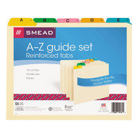 Smead 50180 Manila Alphabetical File Guide with 1/5 Tab, Letter - 25/Set