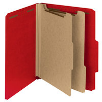 Smead 14061 100% Recycled Heavyweight Letter Size Classification Folder - 10/Box