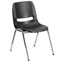 Flash Furniture RUT-16-BK-CHR-GG Hercules Black Ergonomic Shell Stacking Chair