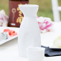 Acopa 10 oz. Bright White Sake Bottle - 36/Case