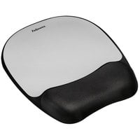 Fellowes 9175801 Black / Silver Mouse Pad with Memory Foam Wrist Rest