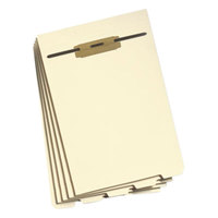 Smead 35600 8 1/2 inch x 11 inch 1/5 End Tab Stackable Folder Divider with Fastener - Letter - 50/Pack