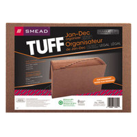 Smead 70390 TUFF Legal Size 12-Pocket Expanding File - January-December Indexed, Flap and Cord Closure, Redrope