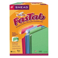Smead 64031 FasTab Letter Size Hanging File Folder - Reinforced Erasable 1/3 Cut Assorted Tab, Assorted Color - 18/Box
