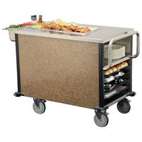Lakeside 6754SM SuzyQ Sepia Mineral Dining Room Meal Serving System with One Heated Well - 120V